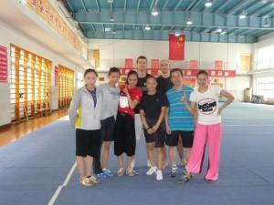 benoit pierrain avec l'équipe de wushu d'Anhui en chine en 2012